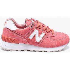 New Balance - Buty WL574CHE. Różowe obuwie sportowe damskie New Balance, z gumy. W wyprzedaży za 299.90 zł.