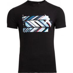 T-shirt męski TSM612 - czarny - Outhorn. Czarne t-shirty męskie Outhorn, na lato, z bawełny. W wyprzedaży za 29.99 zł.