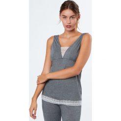 Etam - Piżama Alaska. Szare piżamy damskie Etam, z elastanu. W wyprzedaży za 89.90 zł.