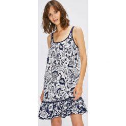 Lauren Ralph Lauren - Koszula nocna. Szare koszule nocne damskie Lauren Ralph Lauren, z bawełny. W wyprzedaży za 179.90 zł.