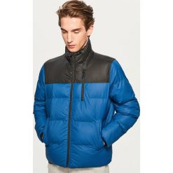Pikowana kurtka ze stójką - Niebieski. Niebieskie kurtki męskie Reserved. Za 169.99 zł.