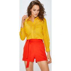 Answear - Koszula. Pomarańczowe koszule damskie ANSWEAR, z bawełny, casualowe, z klasycznym kołnierzykiem, z długim rękawem. W wyprzedaży za 99.90 zł.