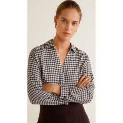 Mango - Koszula Monu. Szare koszule damskie Mango, w kratkę, z tkaniny, z długim rękawem. Za 139.90 zł.