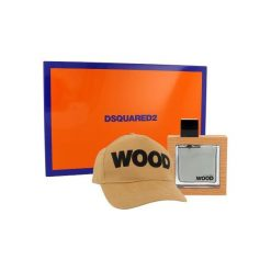 Dsquared Wood Zestaw dla mężczyzn EDT 50 ml + Czapka. Pomarańczowe czapki i kapelusze męskie Dsquared. Za 128.81 zł.