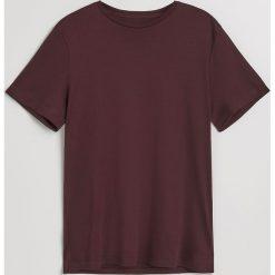 Gładki t-shirt - Bordowy. Czerwone t-shirty męskie Reserved. Za 49.99 zł.