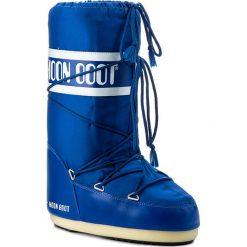 Śniegowce MOON BOOT - Nylon 14004400075 Electric Blue D. Niebieskie kozaki damskie Moon Boot, z materiału. Za 359.00 zł.