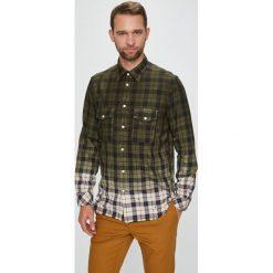 Diesel - Koszula. Brązowe koszule męskie Diesel, z bawełny, z klasycznym kołnierzykiem, z długim rękawem. W wyprzedaży za 499.90 zł.