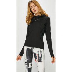 Nike - Bluza. Szare bluzy damskie Nike, z dzianiny. Za 239.90 zł.
