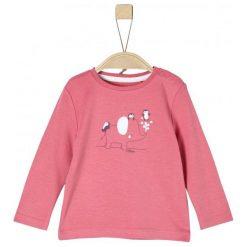 S.Oliver Koszulka Dziewczęca Z Nadrukiem 50/56 Różowy. Czerwone bluzki dla dziewczynek S.Oliver, z nadrukiem. Za 39.00 zł.