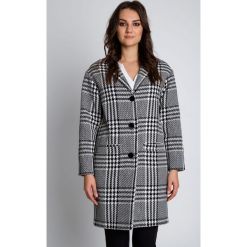 Elegancki płaszcz zapinany na guziki BIALCON. Szare płaszcze damskie BIALCON, na jesień, eleganckie. W wyprzedaży za 300.00 zł.
