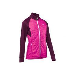 Sweter narciarski MID WARM 500 damski. Czerwone swetry damskie WED'ZE, z elastanu. Za 99.99 zł.