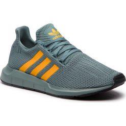 Buty adidas - Swift Run D96643  Rawgrn/Reagol/Cblack. Niebieskie buty sportowe męskie Adidas, z materiału. Za 379.00 zł.