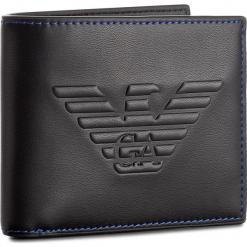 Duży Portfel Męski EMPORIO ARMANI - Y4R167 YG90J 81072 Black. Czarne portfele męskie Emporio Armani, ze skóry ekologicznej. W wyprzedaży za 299.00 zł.
