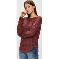 Only - Sweter. Brązowe swetry damskie Only, z dzianiny, z okrągłym kołnierzem. W wyprzedaży za 84.90 zł.