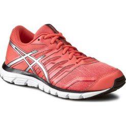 Buty ASICS - Gel-Zaraca 4 T5K8N Living Coral/Silver/Onyx. Brązowe obuwie sportowe damskie Asics, z materiału. W wyprzedaży za 239.00 zł.