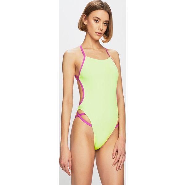 21508de1b9d46e Speedo - Strój kąpielowy - Zielone kostiumy jednoczęściowe damskie Speedo,  bez wzorów, z materiału. W wyprzedaży za 159.90 zł.