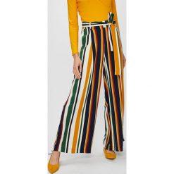 Answear - Spodnie Falling in Autumn. Szare spodnie materiałowe damskie ANSWEAR, z poliesteru. W wyprzedaży za 99.90 zł.