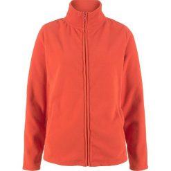Bluza rozpinana z polaru z wpuszczanymi kieszeniami bonprix pomarańczowy matowy. Brązowe bluzy damskie bonprix, z polaru. Za 54.99 zł.