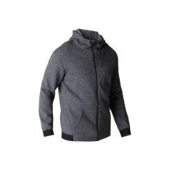 Bluza na zamek z kapturem Gym & Pilates 560 męska. Szare bluzy męskie DOMYOS, z bawełny. Za 129.99 zł.