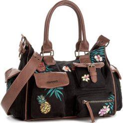 Torebka DESIGUAL - 18SAXFAO 2000. Czarne torebki do ręki damskie Desigual, z materiału. W wyprzedaży za 259.00 zł.