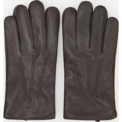 Rękawiczki skórzane - Brązowy. Rękawiczki męskie marki FOUGANZA. W wyprzedaży za 79.99 zł.
