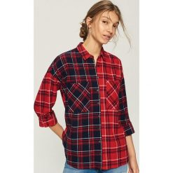 Koszula w kratę - Wielobarwn. Szare koszule damskie Sinsay. W wyprzedaży za 39.99 zł.