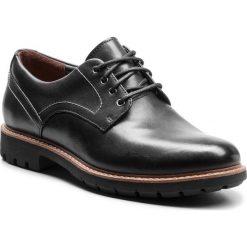 Półbuty CLARKS - Batcombe Hall 261275497 Black Leather. Czarne półbuty na co dzień męskie Clarks, z materiału. W wyprzedaży za 229.00 zł.