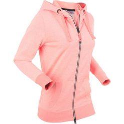 Bluza rozpinana, długi rękaw bonprix łososiowy neonowy melanż. Bluzy damskie marki KALENJI. Za 109.99 zł.