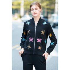 2-cześciowy zestaw - bluza, spodnie. Czarne bluzy damskie Burryco. W wyprzedaży za 449.95 zł.