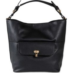 Torba shopper bonprix czarny - złoty kolor. Czarne torebki shopper damskie bonprix. Za 99.99 zł.
