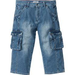 """Dżinsy 3/4 z kieszeniami z boku nogawki Regular Fit bonprix niebieski """"used"""". Jeansy męskie marki bonprix. Za 109.99 zł."""