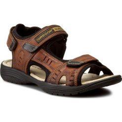 Sandały GREGOR - 01192-ME-V1510 Jasny Brąz. Brązowe sandały męskie Gregor, z materiału. Za 149.00 zł.