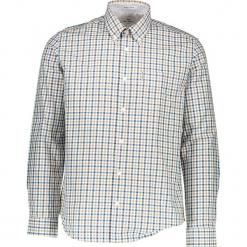 """Koszula """"Gingham"""" - Regular fit - w kolorze zółto-błękitno-białym. Białe koszule męskie Ben Sherman, w kratkę, z bawełny, button down. W wyprzedaży za 130.95 zł."""