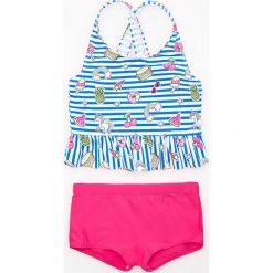 Dwuczęściowy strój kąpielowy - Biały. Stroje kąpielowe dla dziewczynek marki bonprix. W wyprzedaży za 19.99 zł.