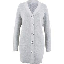 Sweter rozpinany, długi rękaw bonprix szary melanż. Szare kardigany damskie bonprix, melanż. Za 99.99 zł.