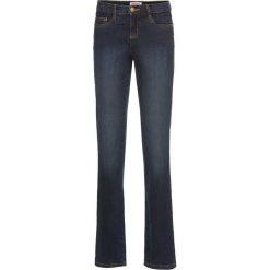 Dżinsy wyszczuplające ze stretchem BOOTCUT bonprix ciemnoniebieski. Niebieskie jeansy damskie bonprix. Za 89.99 zł.