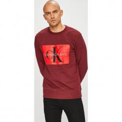 Calvin Klein Jeans - Bluza. Brązowe bluzy męskie Calvin Klein Jeans, z nadrukiem, z bawełny. W wyprzedaży za 319.90 zł.