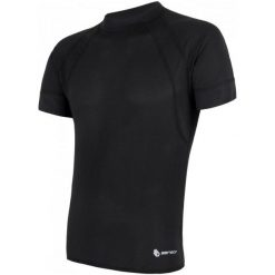 Sensor Męska Koszulka Coolmax Air Black Xl. Czarne koszulki sportowe męskie Sensor, z krótkim rękawem. Za 125.00 zł.