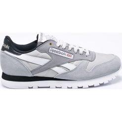 Reebok Classic - Buty CL Leather Mccs. Szare buty sportowe męskie Reebok Classic, z gumy. W wyprzedaży za 279.90 zł.