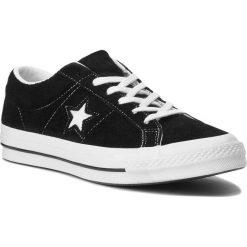 Tenisówki CONVERSE - One Star Ox 158369C Black/White/White. Czarne trampki męskie Converse, z gumy. W wyprzedaży za 269.00 zł.