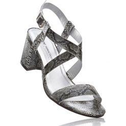 Sandały bonprix czarny - skóra węża. Sandały damskie marki bonprix. Za 37.99 zł.