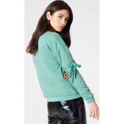 Rut&Circle Sweter z rękawem z elastyczną wstawką Thora - Green. Zielone swetry damskie Rut&Circle. W wyprzedaży za 80.98 zł.