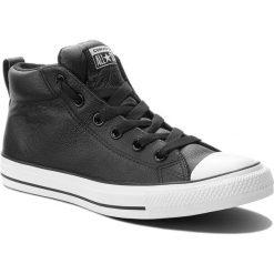 Trampki CONVERSE - Ct Street Mid 143727C Black/White. Czarne trampki męskie Converse, z gumy. Za 329.00 zł.