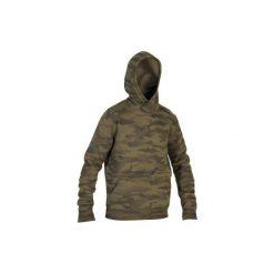 Bluza myśliwska z kapturem SG500 Cam Halftone. Zielone bluzy męskie SOLOGNAC. Za 129.99 zł.