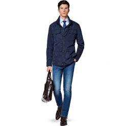 Kurtka Granatowa Moa. Niebieskie kurtki męskie LANCERTO, z jeansu, klasyczne. W wyprzedaży za 559.90 zł.