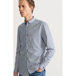 Wzorzysta koszula slim fit - Turkusowy. Niebieskie koszule męskie Reserved. Za 119.99 zł.