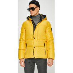 Calvin Klein - Kurtka puchowa. Pomarańczowe kurtki męskie Calvin Klein, z materiału. Za 1,149.00 zł.