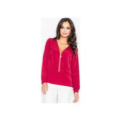 Bluzka M422 Bordo. Czerwone bluzki damskie Figl, z długim rękawem. Za 119.00 zł.