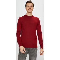 Tommy Hilfiger Tailored - Sweter. Brązowe swetry przez głowę męskie Tommy Hilfiger Tailored, z dzianiny, z okrągłym kołnierzem. Za 399.90 zł.