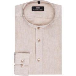 Koszula SIMONE KLER000005. Brązowe koszule męskie Giacomo Conti, na lato, z bawełny, ze stójką, z długim rękawem. Za 169.00 zł.